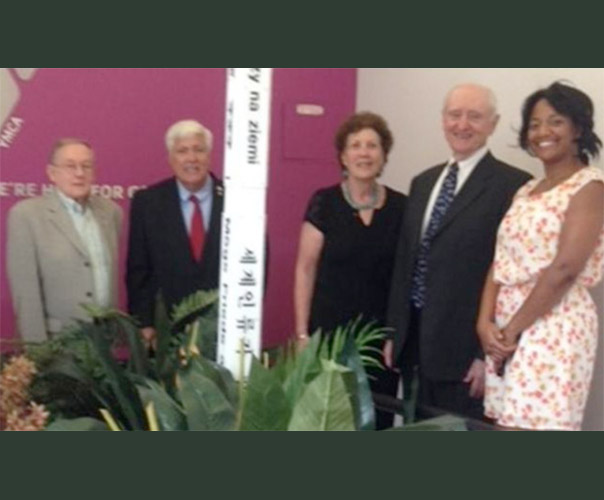 Peace Pole dedication at the LIC YMCA